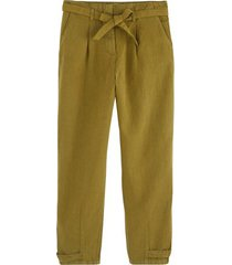 bawełniane spodnie z lnem