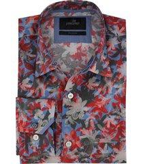 vanguard overhemd rood blauw printje
