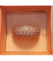 stunning jean dousset vermeil paved cz wedding ring eternity band size 7 6 hsn