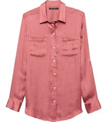 blusa dillon util soft satin rosa banana republic
