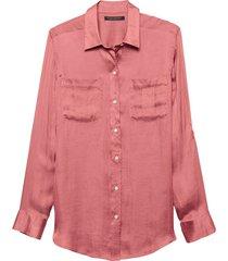 blusa dillon util soft satin rosa banana republic