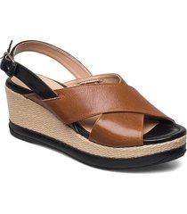 kastro_21_gcr sandalette med klack espadrilles brun unisa
