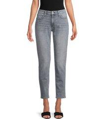 rag & bone women's dre low-rise slim boyfriend ankle jeans - silver stone - size 31 (10)