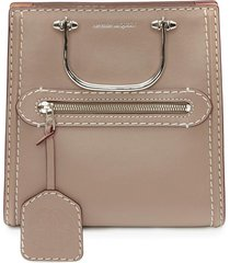 alexander mcqueen the short story crossbody bag - neutrals