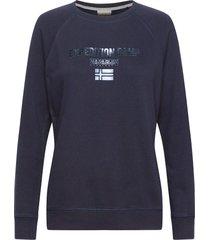 bonthe w c sweat-shirt tröja blå napapijri