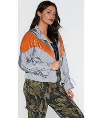 womens she's like the windbreaker jacket - grey