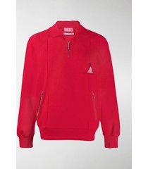 diesel red tag patch track sweatshirt