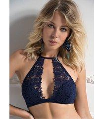 ambra lingerie bh's petites fleurs bralette bh blauw