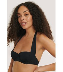 trendyol bikinitopp med push-up och textur - black