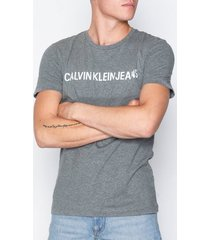 calvin klein jeans basic institutional logo slim tee t-shirts & linnen grey