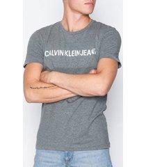 calvin klein jeans basic institutional logo slim tee t-shirts & linnen grey