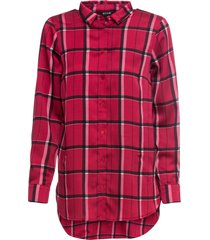 camicia lunga con tasche (rosso) - bodyflirt