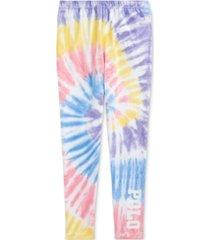polo ralph lauren big girls tie-dye stretch jersey leggings