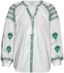 riley blouse blus långärmad vit by malina