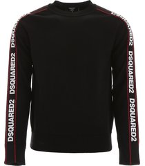 dsquared2 pullover with logo bands