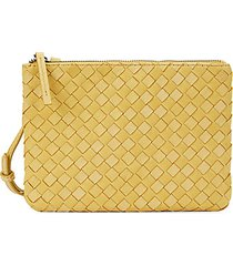 liberty woven leather pouch mini bag