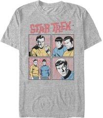 star trek men's the original series comic book squares short sleeve t-shirt