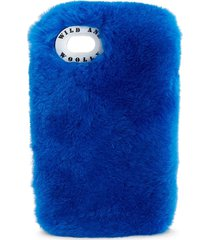 wild and woolly women's beaver fur iphone 7 case - blue