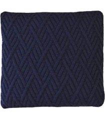 capa almofada tricot 40x40cm / 45x45cm c/zãper sofa trico cod 1025 marinho - azul marinho - feminino - dafiti