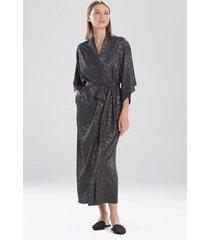 natori decadence sleep/lounge/bath wrap/robe, women's, grey, size l natori