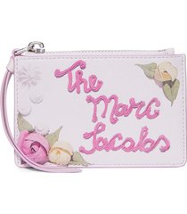 marc jacobs the box printed cake wallet - white