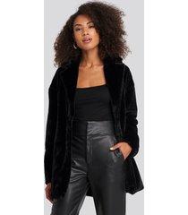 rut&circle tyra faux fur jacket - black