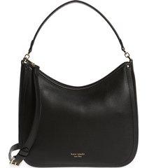 kate spade new york roulette large leather hobo bag - black