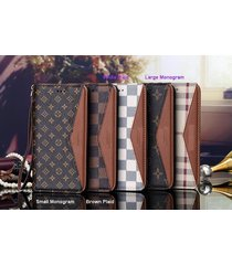 *new style v-brown leather wallet case apple iphone6/6s iphone7/8 plus iphonex
