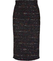 alexander mcqueen tweed sheath skirt