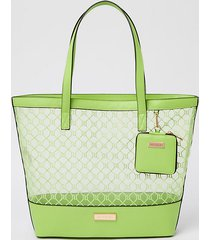 river island womens green mesh shopper with pouch