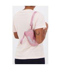 pochete puma wmn core up sling bag rosa