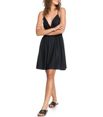 women's roxy new silver light dress, size large - black