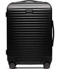ermenegildo zegna leggerissimo four-wheel cabin suitcase 55cm - black