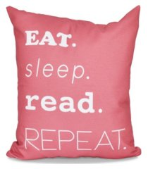 my mantra 16 inch coral decorative word print throw pillow