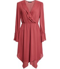 bcbgmaxazria ruffled handkerchief-hem dress