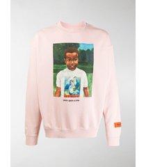 heron preston once upon a time printed sweatshirt