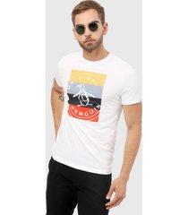 camiseta blanca-multicolor original penguin