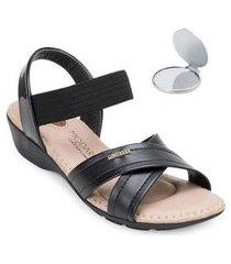 sandália modare ultra conforto e espelho feminina