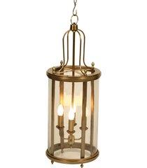 lustre decorativo de bronze 4 lâmpadas garfunkel bivolt