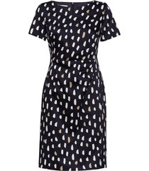 dress woven fabric jurk knielengte blauw gerry weber