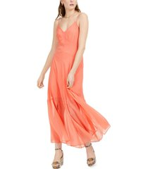 bar iii solid crinkle maxi dress, created for macy's