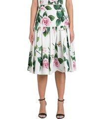 dolce & gabbana roses skirt