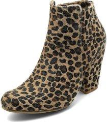 botín  animal print heels.d