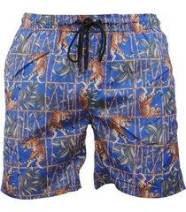 hite couture heren zwembroek tijger zermer - blauw