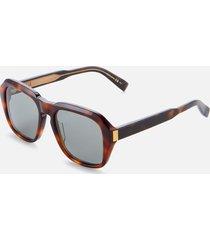 dunhill men's square acetate sunglasses - havana/grey