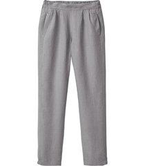 comfortabele linnen broek, zilvergrijs 42