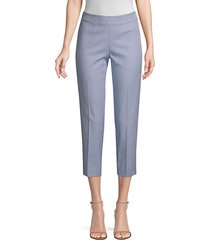 audrey checked stretch cropped pants