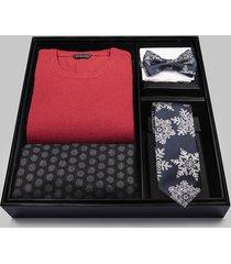 zestaw sweter, szalik, krawat i mucha l6