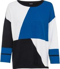 maglione boxy color block (bianco) - bodyflirt