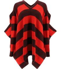 marni striped knit cape sweater